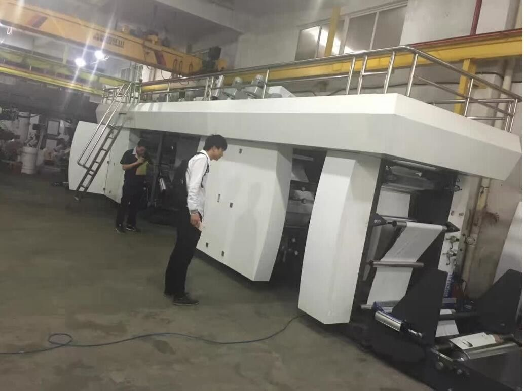 Central Drum High Speed Flexo Printing Machine 4 Colors 1200mm Material Feeding Width