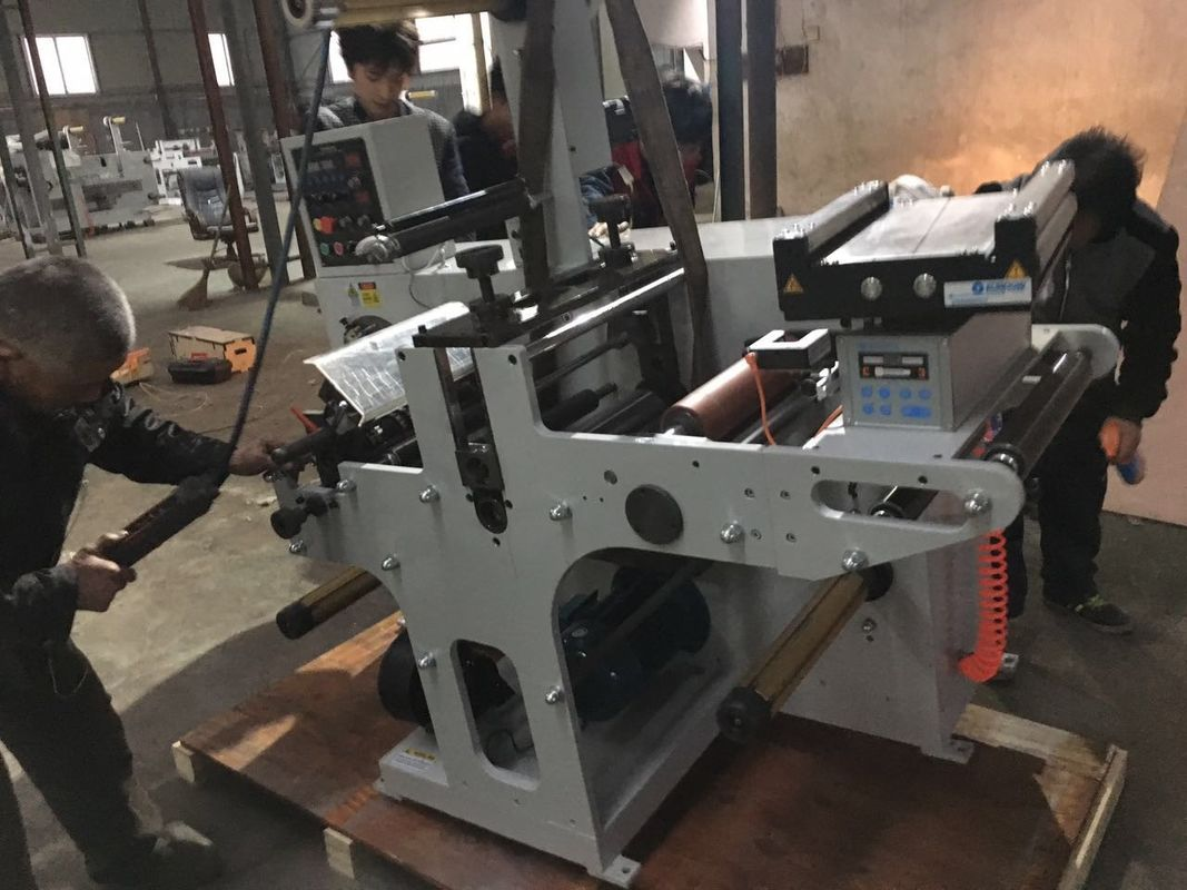Rotary Knife Die Cutting Machine , Automatic Slitter Rewinder With Turntable Rewinding Station